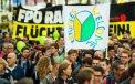 Miles marchan por crisis de refugiados en Viena