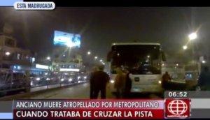 Metropolitano: anciano murió al intentar cruzar vía