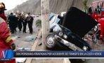 Costa Verde: provoca accidente, deja dos heridos e intenta huir
