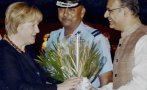 Merkel llegó a la India para fortalecer lazos con Alemania
