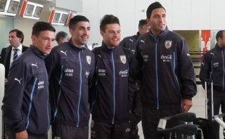 Uruguay llegó a Bolivia para su debut en las Eliminatorias