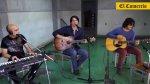 Una sesión acústica con la banda de Pedro Suárez Vértiz [VIDEO] - Noticias de en vivo