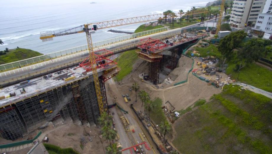 Miraflores: así se ven las obras del puente mellizo [FOTOS]