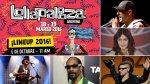 Lollapalooza: este es el line up de Chile, Argentina y Brasil - Noticias de el mes de octubre