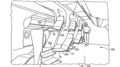 Airbus propuso una nueva distribución de sillas de avión para optimizar el espacio de la cabina.