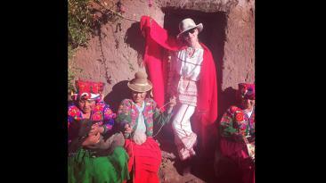 Katy Perry regresó al Perú y se fue al Lago Titicaca
