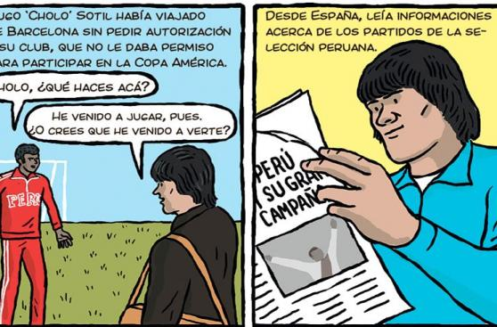Perú vs. Colombia: La hazaña de Hugo Sotil en 1975 en un cómic