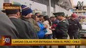 Perú vs Chile: largas colas y disturbios por venta de entradas
