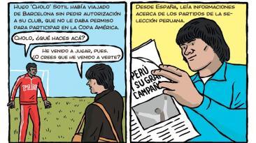 Perú vs. Colombia: La hazaña de Hugo Sotil en 1975 en un cómic