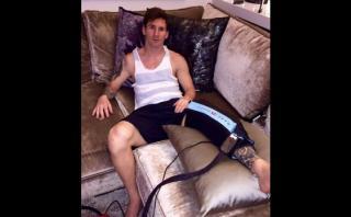 Lionel Messi mostró en Facebook detalles de su recuperación
