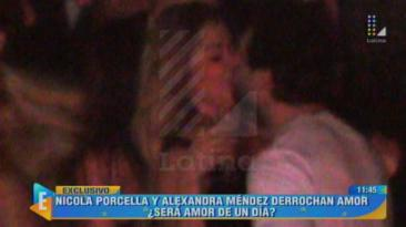 Nicola Porcella, captado besando a venezolana Alexandra Méndez