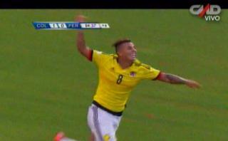 Colombia anotó el 2-0 a Perú con un contragolpe demoledor