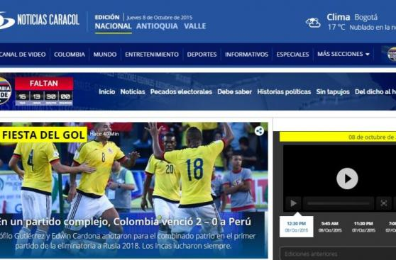 Prensa colombiana calificó de