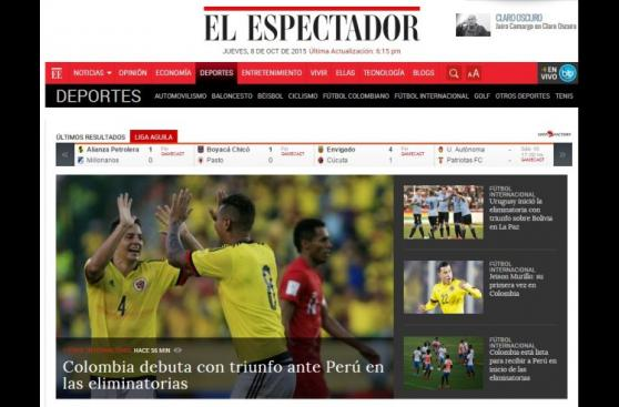 Prensa colombiana calificó de