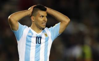 Sergio Agüero sufrió un desgarro y estará un mes sin jugar