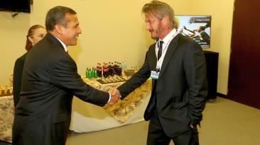 El encuentro entre Ollanta Humala Sean Penn en Lima [FOTOS]