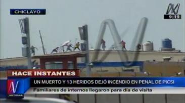 Penal de Picsi: presos se enfrentan a agentes del INPE [VIDEO]