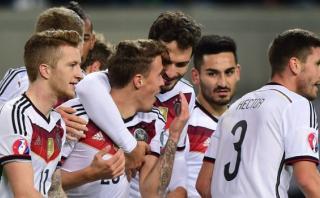 Alemania ganó 2-1 a Georgia y clasificó a la Eurocopa 2016