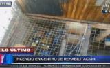 Incendio en SJL: 25 internos fugan de centro de rehabilitación