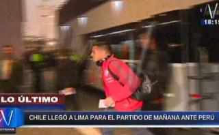 Selección chilena llegó a Lima para enfrentar a Perú