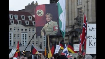 Alemania: miles protestan contra la llegada de refugiados