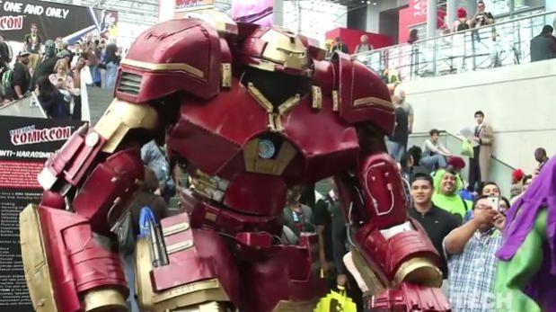Crean disfraz de Iron man Hulkbuster en tamaño real