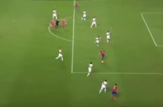 CUADROxCUADRO del segundo gol de Alexis Sánchez contra Perú