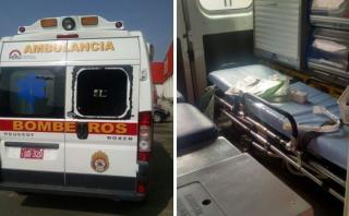 Roban equipos médicos de ambulancia de bomberos de La Molina
