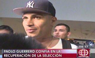 Paolo Guerrero respondió a jugadores chilenos antes de viajar