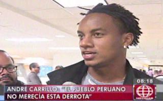 """André Carrillo: """"El pueblo peruano no merecía esta derrota"""""""