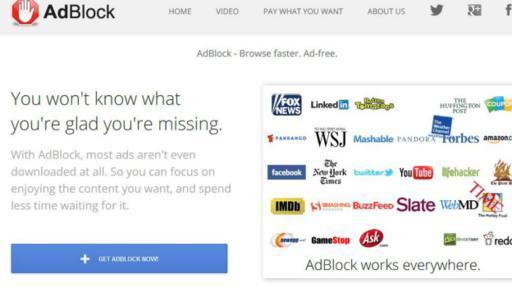 El 40% de los usuarios utilizan bloqueadores de anuncios. La publicidad hace que las páginas carguen muy lentas.(Foto: AdBlock)