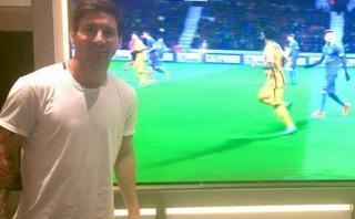 Facebook: Así apoyó Lionel Messi a Barcelona desde su casa
