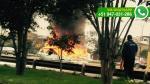 WhatsApp: auto se incendió en Panamericana Sur y generó tráfico - Noticias de puente primavera