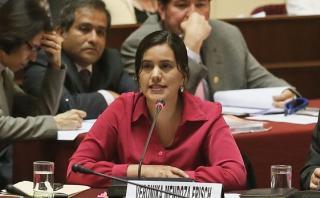 Verónika Mendoza contestó sobre 'agendas' de Nadine en Congreso