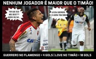 El meme con que hinchas de Corinthians se burlan de Guerrero
