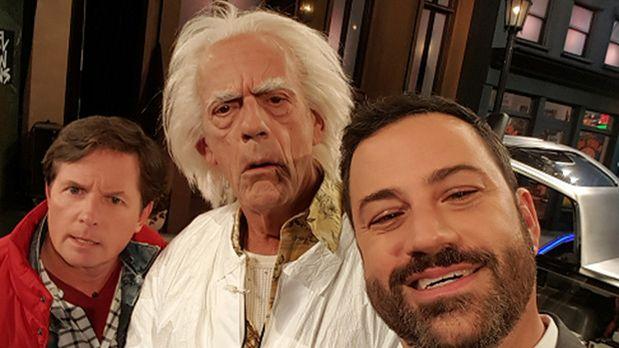 El selfie que compartió Jimmy Kimmel junto a los protagonistas de