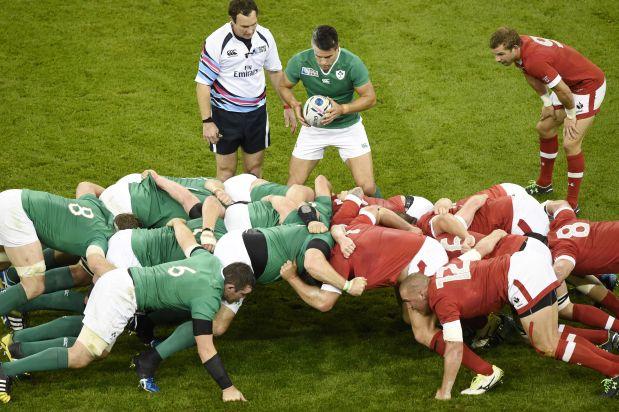 Scrum, formación fija dentro del rugby. (Reuters)