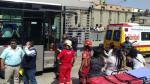 Metropolitano: doce heridos por choque entre bus y auto - Noticias de estación de bomberos