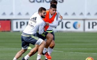 James Rodríguez hizo fútbol 50 días después de su lesión