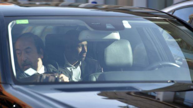 Así llegó el volante. (Foto: AFP)