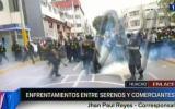 Huacho: gresca entre ambulantes y serenos dejó varios heridos