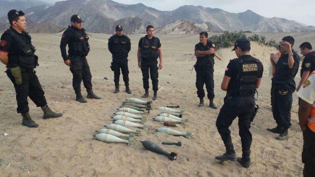 Policía halla centenares de granadas de guerra en Paiján