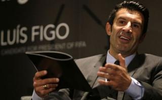 FIFA: Luis Figo mostró su apoyo a la candidatura de Infantino