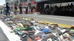Arequipa: destruyen media tonelada de juguetes bélicos [FOTOS] - Noticias de manuel vera paredes