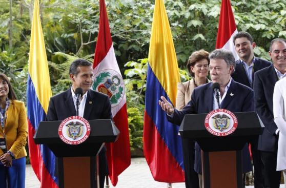 Ollanta Humala y Juan Manuel Santos en II Gabinete Binacional