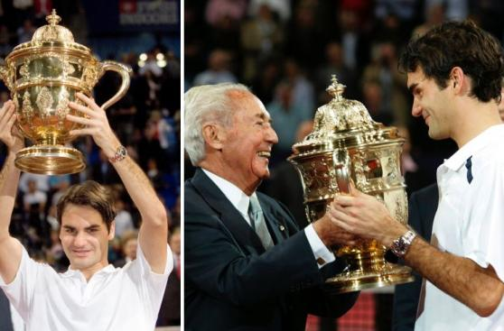 Roger Federer y sus siete títulos de Basilea en imágenes