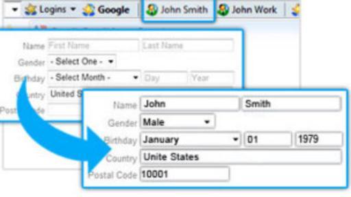 Roboform permite rellenar los datos automáticamente simplemente presionando un botón. (Foto: Roboform)