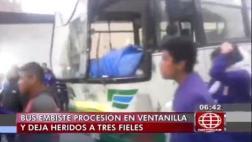 Ventanilla: bus atropelló a fieles que acompañaban procesión