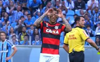 Flamengo: Guerrero fue expulsado ante Gremio por este gesto