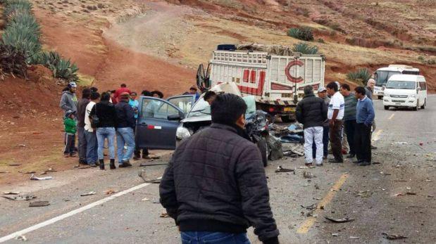 Accidente en Cusco: choque frontal deja tres muertos